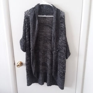 Apt. 9 Long Knit Open Front Cardigan